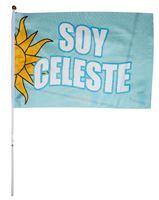 """Imagen de Bandera Con Asta """"Soy Celeste"""""""