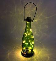Imagen de Lámpara Botella De Vidrio Con Luces Led