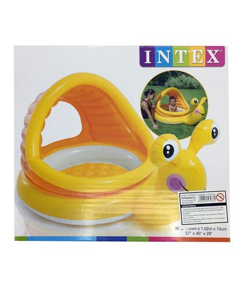 Imagen de Piscina Inflable Infantil Caracol con Techo 53 Litros INTEX