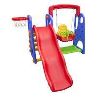 Imagen de Tobogán Infantil + Hamaca + Aro De Basket - Para Niños