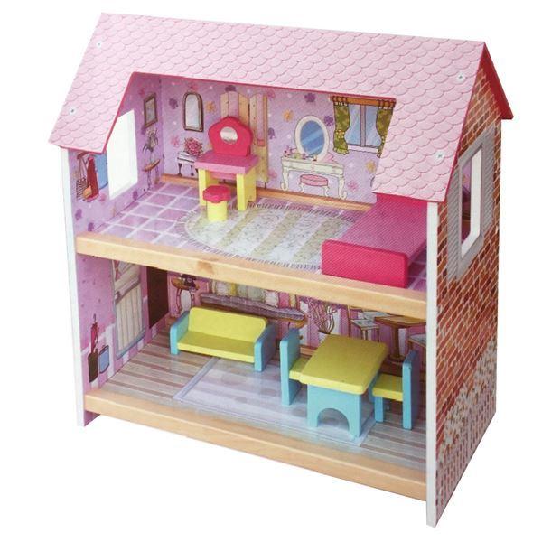 Imagen de Casa De Muñecas MDF 6 Muebles Casita
