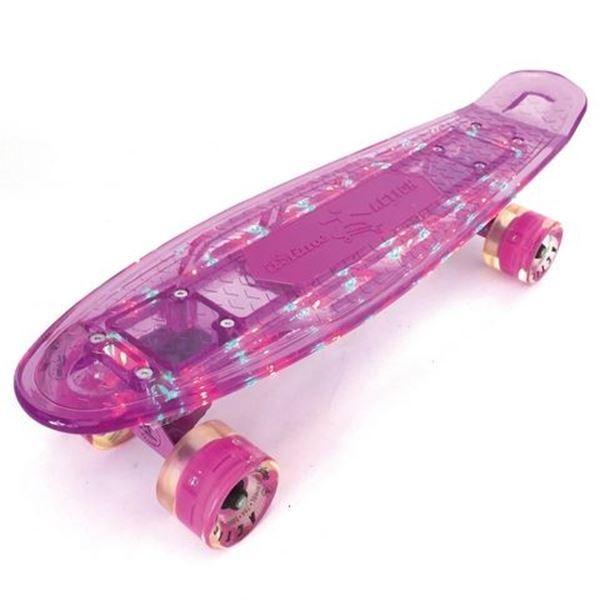 Imagen de Mini Patineta Penny Skateboard con Tabla Transparente, Luz y