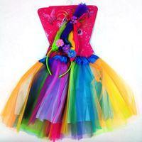Imagen de Disfraz Infantil Pollera con Tiara Trolss Multicolor