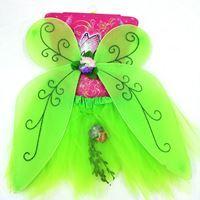 Imagen de Disfraz Infantil Pollera con Alas Hada Verde