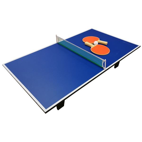Imagen de Mesa Mini Ping Pong MDF Con Red + Paletas + Pelotas