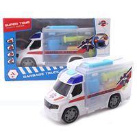 Imagen de Ambulancia a Fricción Luz, Sonido y Valija con Accesorios Ju
