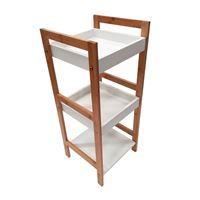 Imagen de Mueble 3 estantes de bambú y MDF, 3 estantes, en caja
