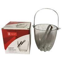 Imagen de Hielera de vidrio con pinza en caja