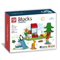 Imagen de Blocks 45 piezas zoológico, con accesorios, en caja
