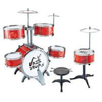 Imagen de Batería 6 tambores y platillos, con banco, en caja, rojo