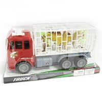 Imagen de Camión a fricción jaula con animales, en burbuja