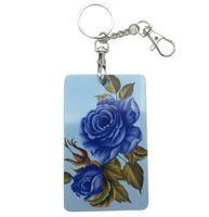 Imagen de Porta tarjetas de plástico, con llavero, ideal para tarjeta STM y cédula, diseños surtidos, pack x12