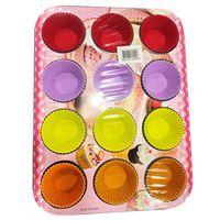 Imagen de Asadera con moldes de silicona para 12 cupcakes