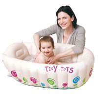 Imagen de Bañito inflable para bebé de PVC, con indicador de temperatura, en caja, Jilong