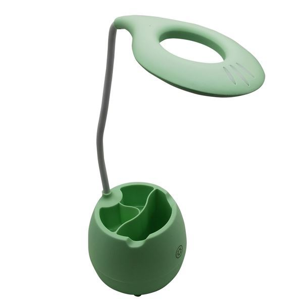 Imagen de Lámpara touch flexible, 16 led, recargable con cable USB, con portalápices y apoya celular, en caja, varios colores