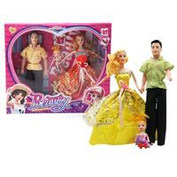 Imagen de Muñeca y muñeco con hija, en caja