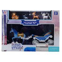 Imagen de Caballo y carruaje con 4 animales, en caja