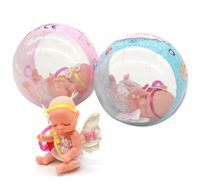 Imagen de Bebote pequeño, con accesorios, en pelota, CAJA x2