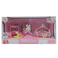 Imagen de Muebles para muñecas, conejo con 14 accesorios, en caja