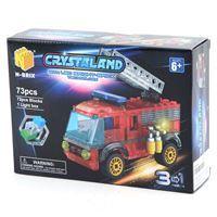 Imagen de Blocks, 73 piezas con luz, permite armar 3 vehículos, en caja