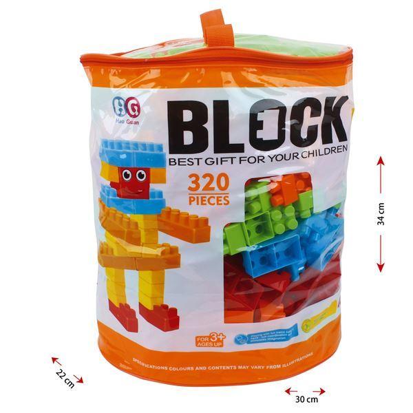 Imagen de Blocks x320 piezas de plástico medianas, en bolsa de PVC