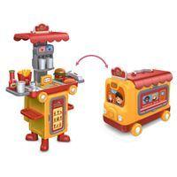 Imagen de Carro de hamburguesas, con luz y sonido 3+2AA, 2 en 1, en caja