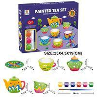 Imagen de Juego de té de cerámica, para decorar, en caja