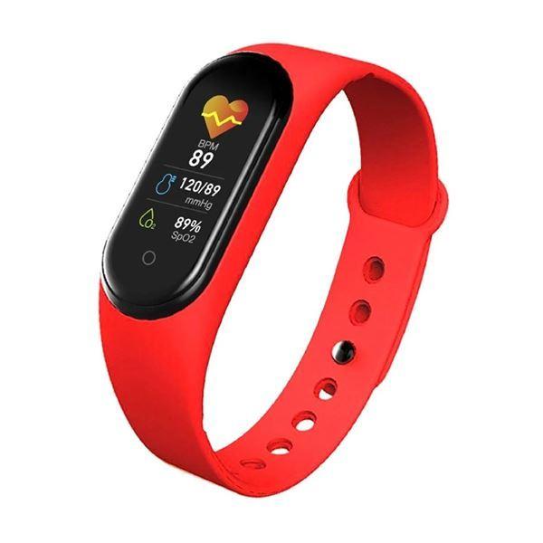 Imagen de Reloj pulsera Smartband M4 ROJO, IOS y ANDROID, bluetooth, en caja