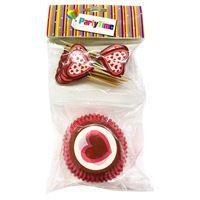 Imagen de Molde de papel pirotines para cupcakes x24, con adorno, PACK x12