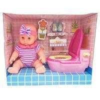 Imagen de Bebote con sonido, con accesorios de baño, en caja