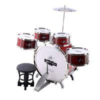 Imagen de Batería, bombo, tambores chicos, platillos, con banco en caja
